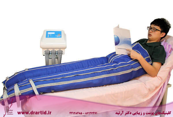 24 Chambers Pressotherapy Lymphatic Drainage Slimming Device with Pants and Eyes Massage - لاغری - بادی اسکالپتور