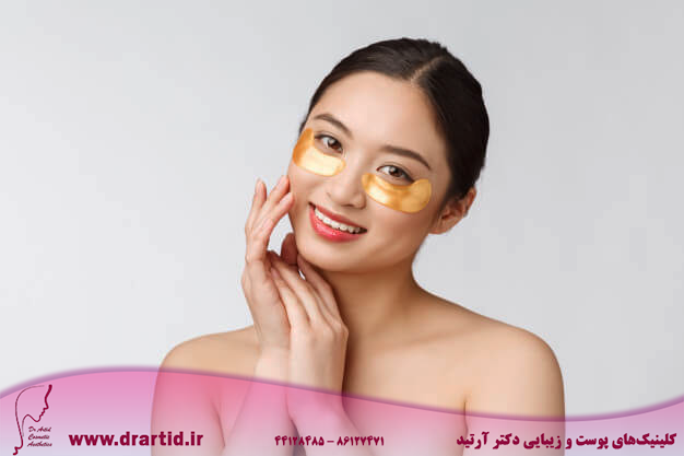asian beauty teenager woman care her skin with gold eye masks patches eyes 1258 8841 - مراقبت پوستی
